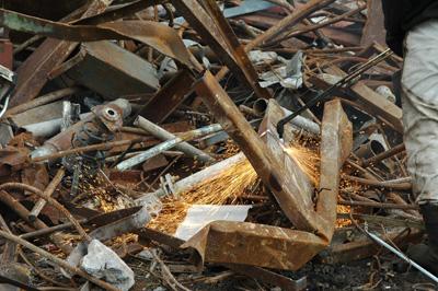 Metalo laužo perdirbimas